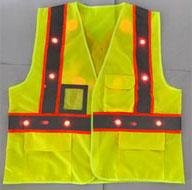 LED Working Safety Vest